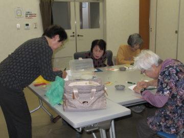令和元年11月20日ちぎり絵教室制作風景2