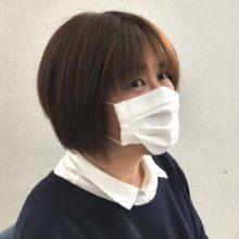 キッチンペーパーマスク③ 装着